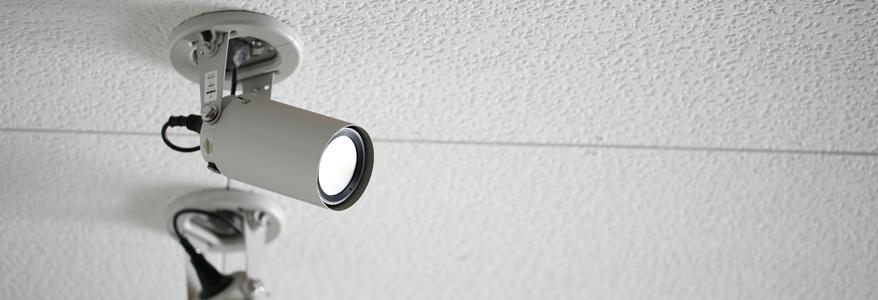 防犯カメラにも防水・防塵の性能を表記しています。