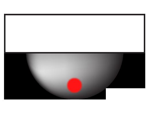 本物のドーム型赤外線カメラの光り方