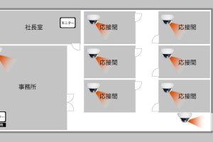 東京都立川市の事務所に防犯カメラ8台設置依頼をいただきました。